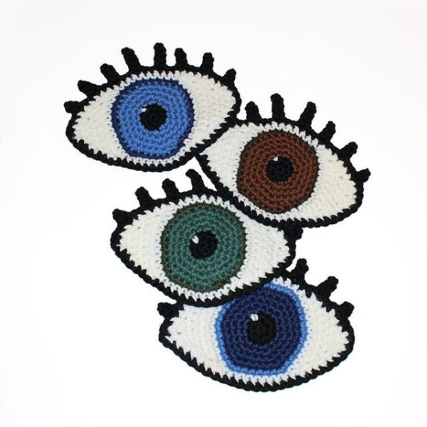 Crochet eyes to raise awareness about Social Anxiety Disorder
